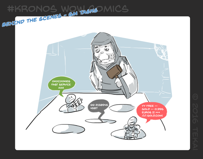 Behind the scenes - GM tasks